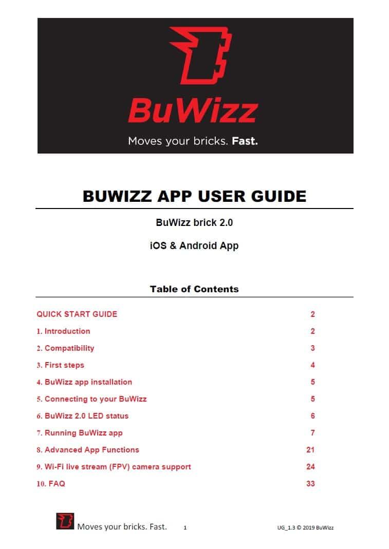 BuWizz Benutzerhandbuch